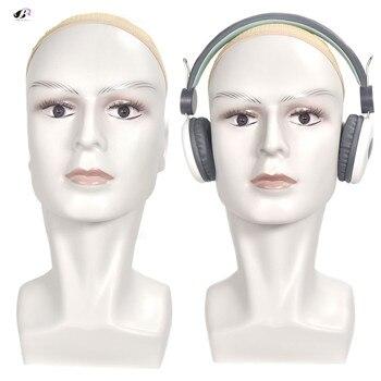 Bolihair high quality white Men Wig Stand Training Head Mannequin With Ear Male Dummy Head Wigs Earphone Caps Display стойка для акустики elac stand ls 50 high gloss white