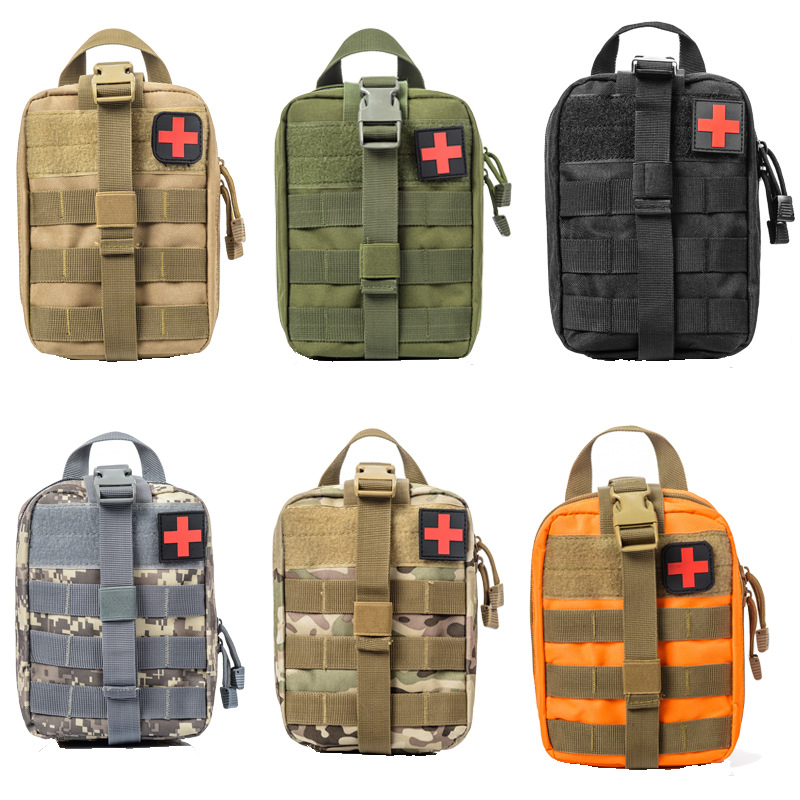 Outdoor Tactical Pouch Bag Emergency First Aid Kit Bag Travel Camping Hiking Climbing Medical Kits Bags