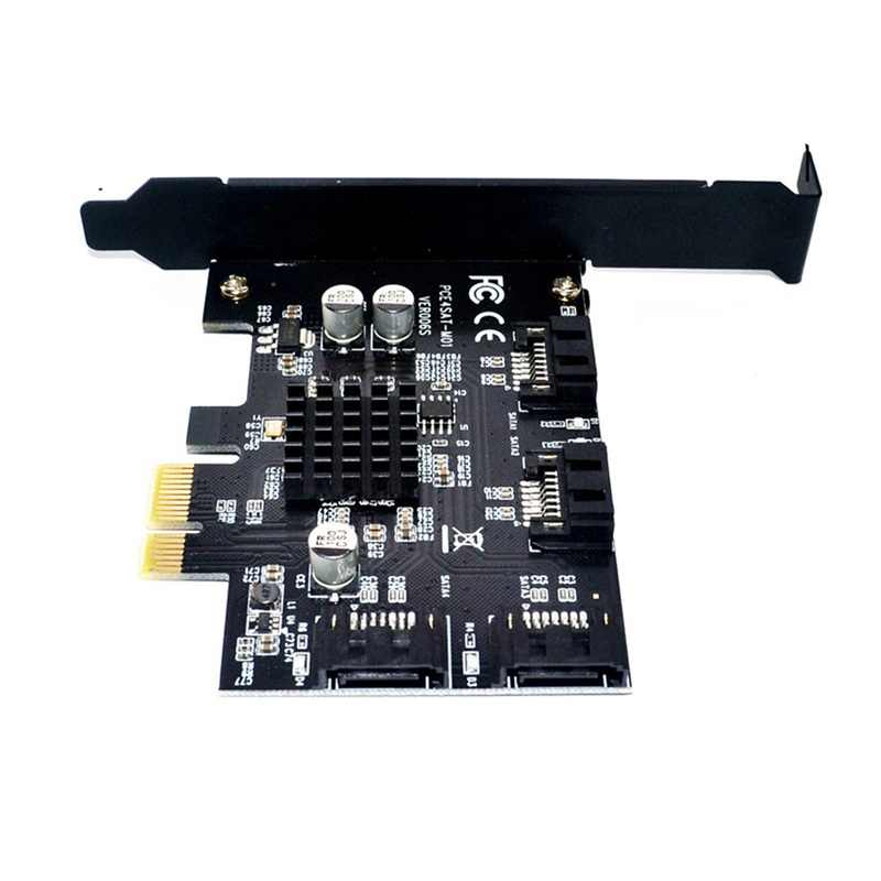 PCI-E כדי sata3.0 בקר כרטיס הרחבה 4 יציאת 6G riser כרטיס הרחבה IPFS קשה כונן כריית כרטיס 88SE9215