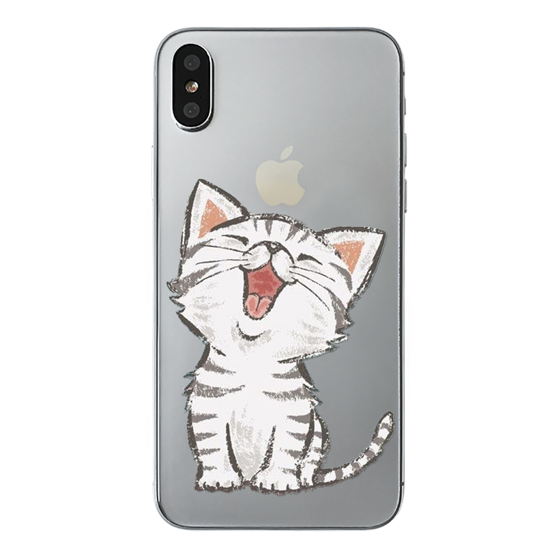 a85c917d1f Cute Cats British Shorthair Cat Phone Cover For iPhone X Cartoon Garfield  Animals Cat Soft TPU Back Cases For iPhone X-in Half-wrapped Case from  Cellphones ...