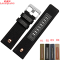 Laopijiang canvas belt strap for hours to 24 mm, width 26 mm, watch band soft cow leather DZ1600 DZ4323 accessories.