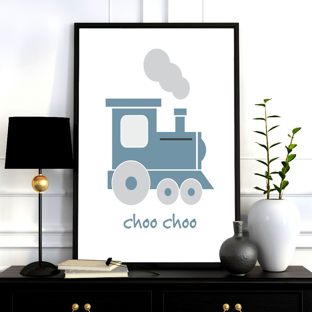 Modern Transportation Nursery Canvas Art Print Painting Poster Wall Pictures For Kids Room Home Decorative Wall Decor No Frame in Painting Calligraphy from Home Garden