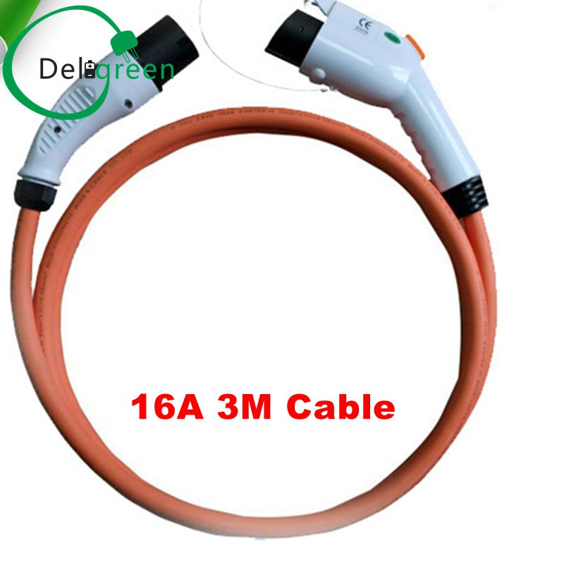 Type 1 to Type 2 IEC62196 ev charging plug 16A with 2M TUV/UL cables free shipping