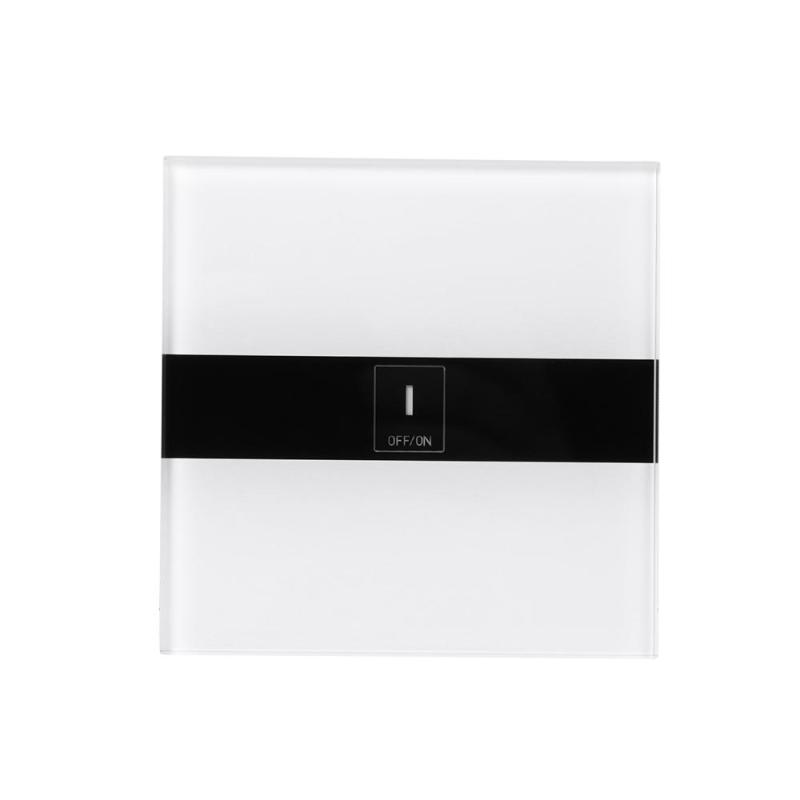 1-CH Wall Switch WiFi Smart Switch APP Remote Control Moisture-proof Crystal Tempered Glass Touch Panel Energy Saving EU Switch eu us itead sonoff touch wifi switch crystal glass panel 1 gang 1 way wifi timing wall switch control via app for smart home