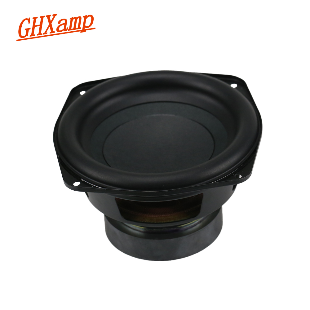 GHXAMP For LG 5.5 / 6 inch Pure Subwoofer Woofer Speakers Rubber Edge 30 Core BASS Pots 4OHM 60W 120W 1PCS 12v high power 120w 8 inch 10 inch 12 inch subwoofer car core subwoofer amplifier board pure tone