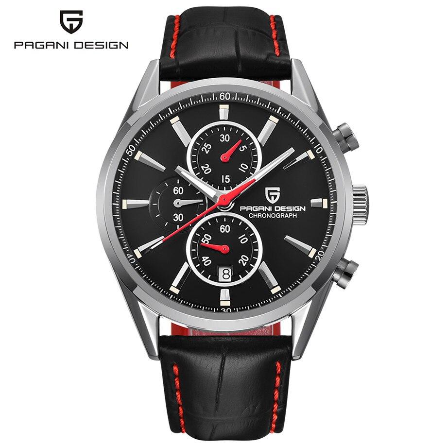 Sport Casual Chronograph Watches for Men Waterproof Stainless Steel Minimalism Quartz Watch Gift for Male erkek kol saati