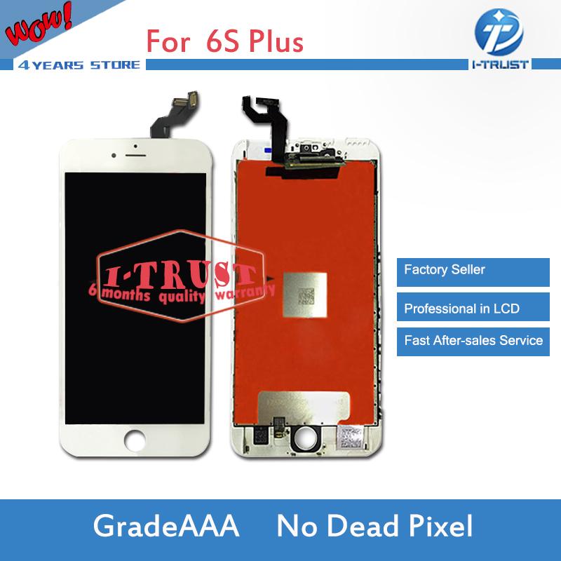 Prix pour 10 pcs/lot grade a + + + pour iphone 6s plus lcd de remplacement avec écran tactile digitizer assemblée affichage aucun pixel mort livraison gratuite