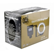 Lightdow LD-48 48 шт. LED Макро LED Кольцевая вспышка свет с ЖК-дисплей Экран Дисплей для Canon Nikon Fujifilm Pentax Olympus Зеркальные фотокамеры