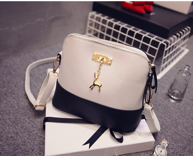 731281d95dbb SMOOZA hot Women s Handbags Fashion Shell Bag Leather Women Messenger Bags  Girls for Shoulder Bags Decorative Deer Branded Bag free shipping worldwide