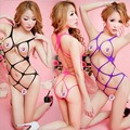 4 Colors Women Exotic Sexy Lingerie Fishnet Large Elastic Hollow Out Body Suits Lady Stretch Teddies