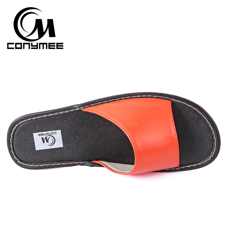 Female Home Indoor Slippers Flip Flops Summer 2019 Leather Sandals Beach Slippers Non-slip Men Women Casual Shoes Bath Slippers 3