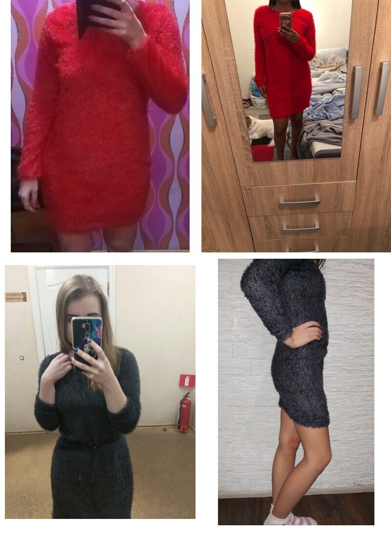 Plush sweater Dress (3)