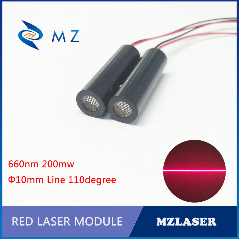 High Power 660nm200mw 110degree Industrial ACC Drive Red Line Laser Module