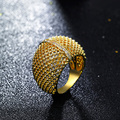 Fashion Rings for party Gold plated with Cubic zircon Finger Ring High quality rings for girls best gift Free shipping