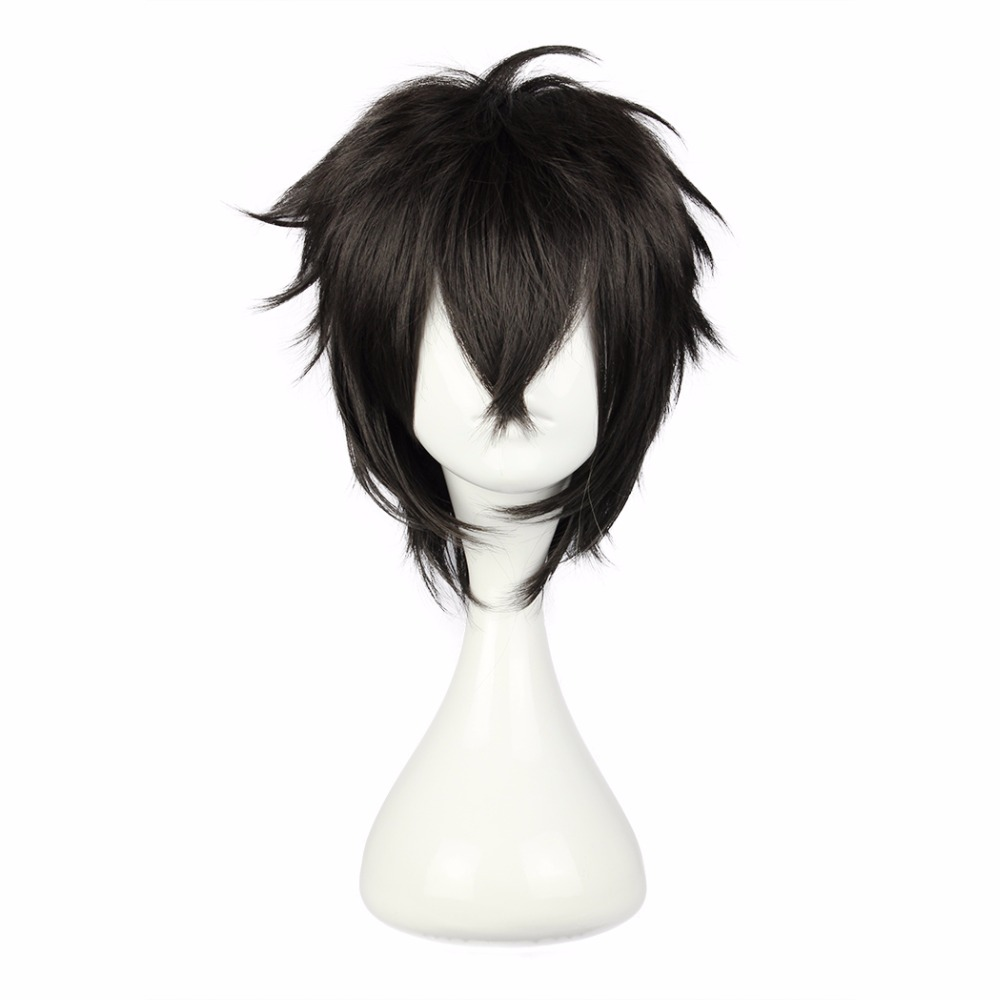 MCOSER 30CM Short Cosplay Wig Synthetic Japanese Black 100% High Temperature Fiber Hair 5 Styles Color Free Shipping WIG-339