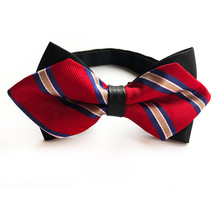 Pointed Fashion Bow Ties for Men Bowtie Tuxedo Classic Wedding Party Red  Blue Beige Wine Pink 63454dc961ee