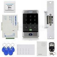 DIYSECUR 125 KHz RFID Keypad + Streik Sperren + Türklingel + Fernbedienung Tür Zutrittskontrolle Sicherheitssystem Kit-in Zugangs Control Kits aus Sicherheit und Schutz bei