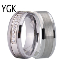 лучшая цена Bridal Rings For Women Classic Wedding Bands Engagement Rings Trendy Couple Tungsten Rings For Lovers Anniversary Party Rings