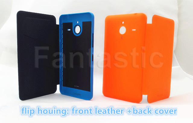 Genuine Flip Case Microsoft lumia 640XL, Original New Leather, Back Cover, Housing Replacement Nokia 640 XL - Yame 3c Store store