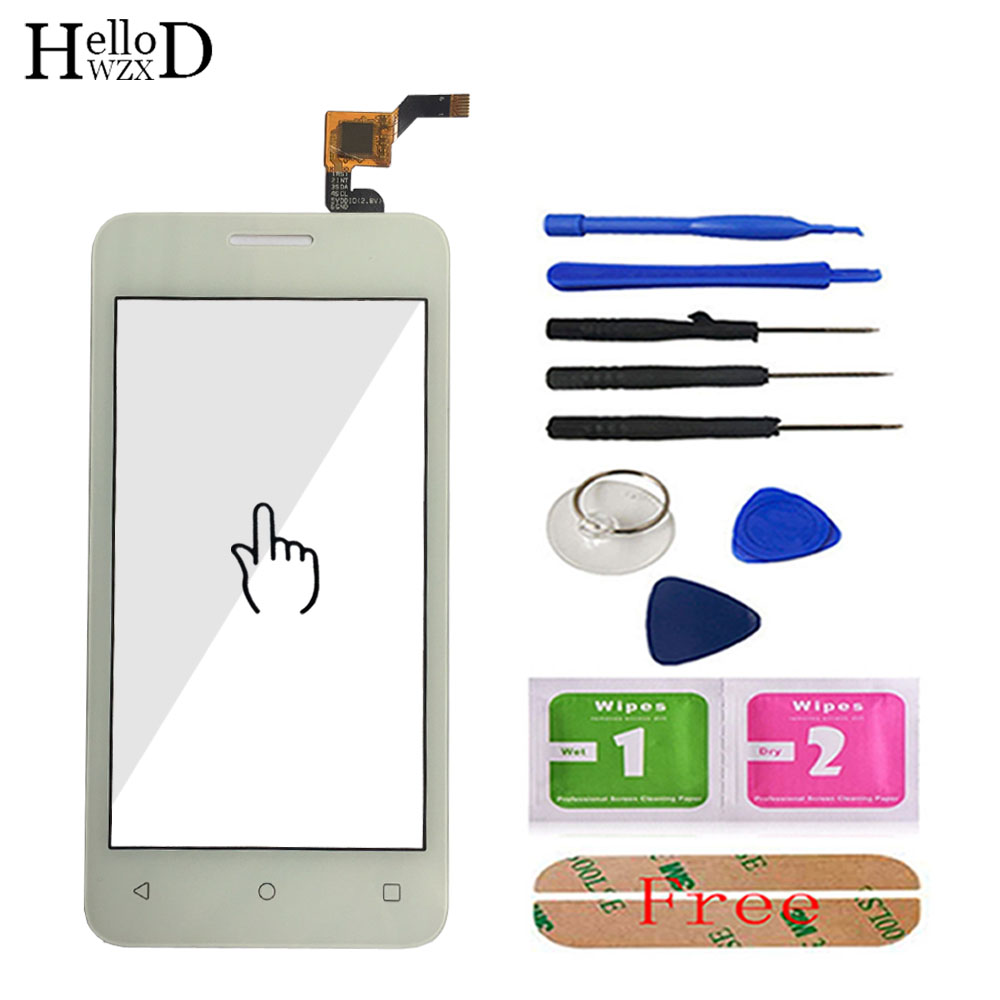 HelloWZXD 4.0'' Front Touch Glass For Fly Stratus 6 FS407 FS 407 Touch Screen Glass Digitizer Panel Tools Lens Sensor Adhesive
