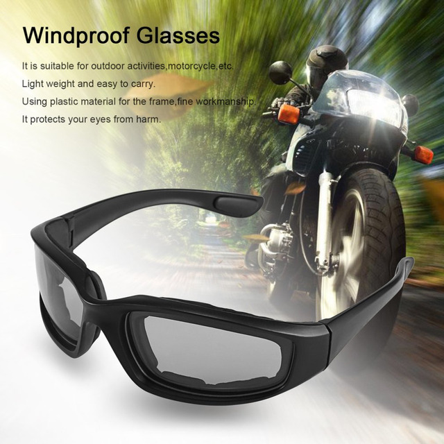 446d4c8b55 UV400 Motorcycle Bike Riding Protective Sun Glasses Windproof Dustproof  Eyes Glass Cycling Goggles Eyeglasses Eyewear Protector