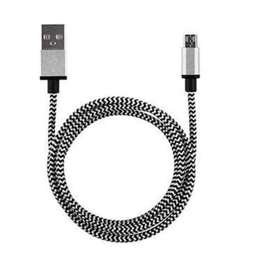 Cable de carga más rápido de sincronización y datos Micro USB de aluminio trenzado para teléfono Android Feb 5