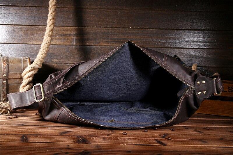 Messenger Horse Vintage Schulter Männlichen Brust Kleine Tasche Brown Männer Umhängetaschen Taschen Echtes Mann Pack Crazy Fanny Leder 70Yd7q
