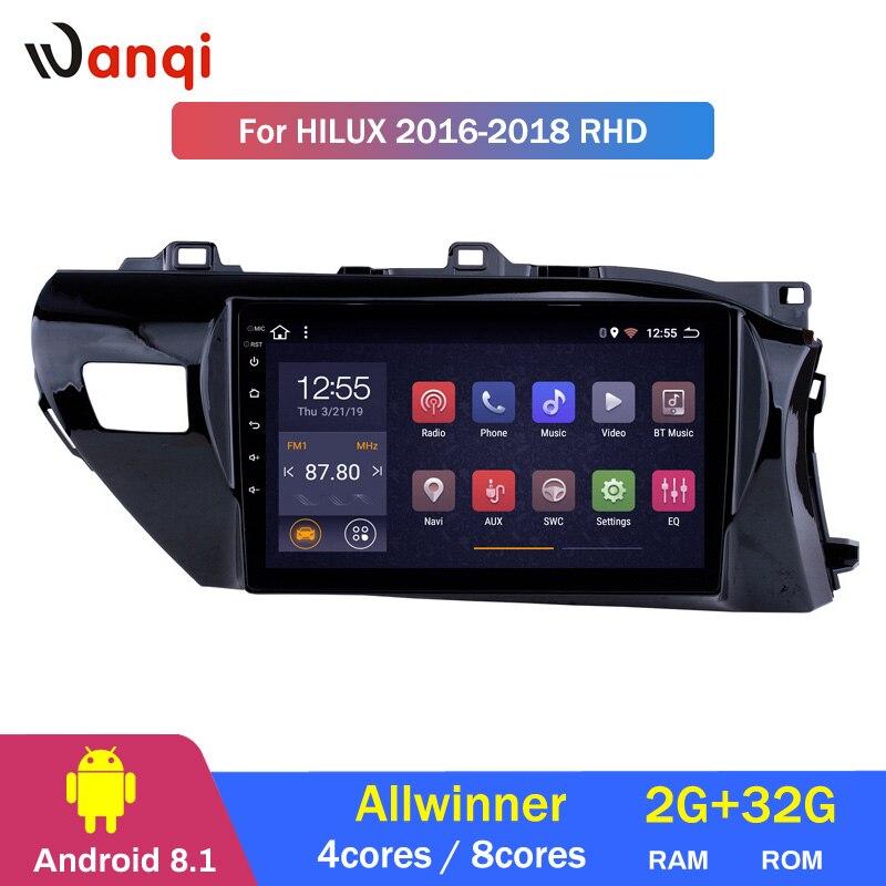 2G RAM 32G ROM 10.1 inch Android 8.1 GPS Navigation Radio for 2016 2017 2018 Toyota Hilux RHD2G RAM 32G ROM 10.1 inch Android 8.1 GPS Navigation Radio for 2016 2017 2018 Toyota Hilux RHD