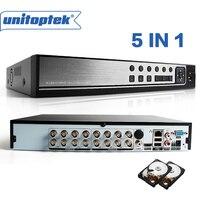 5 в 1 гибрид 16 канальный видеорегистратор 1080 P аналоговая камера высокого разрешения, система видеонаблюдения, цифровой видеорегистратор Ре