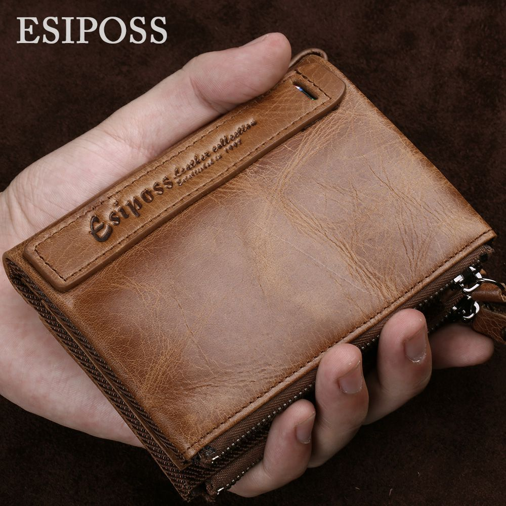 100% Genuine Leather Men Wallet High Quality Luxury Brand Design Mens Wallets Fashion Soft Nature Leather Purse With Card Walet