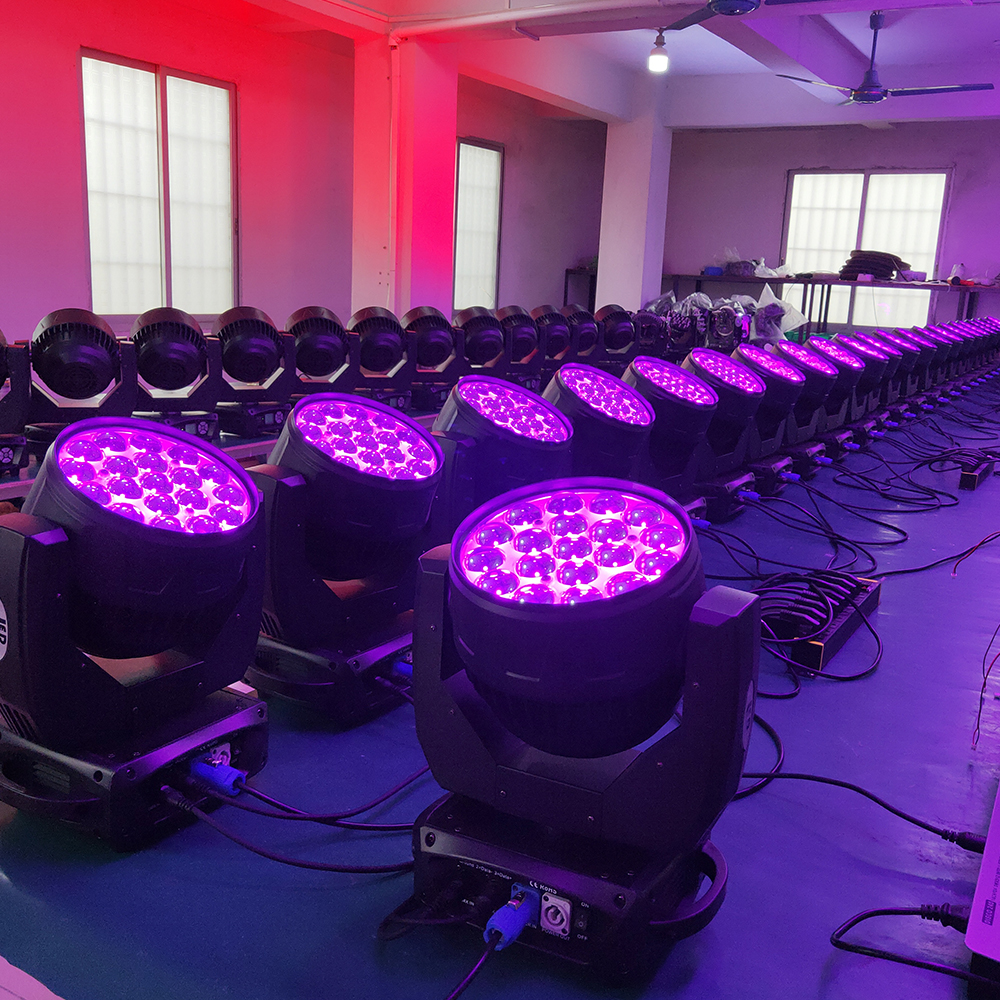 Duty-free 8pcs/lot Led Zoom 19x15w Wash Moving Head Light New Zoom Wash Moving Stage Light