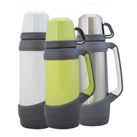 Sport Drinking Thermos 1000ml 1200ml Stainless Steel Water Bottle Vacuum Flasks Thermoses Stainless Steel Car Tea Water Kettles