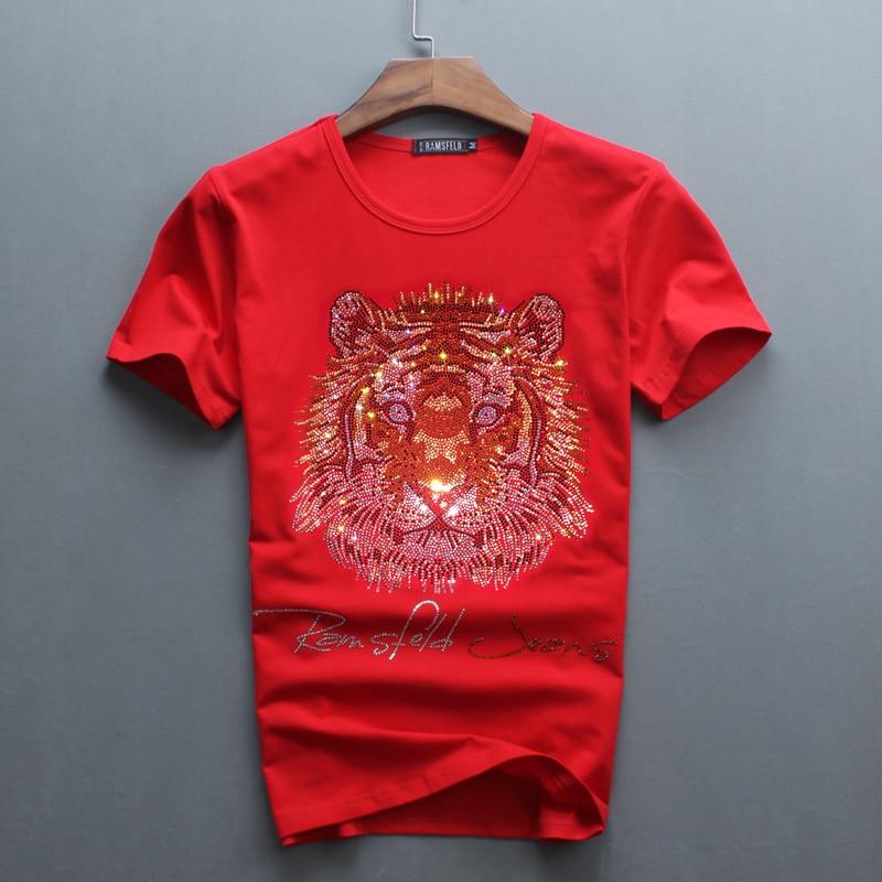 Partihandel Hot Sale Sale O-Neck Men Luxury Diamond Design Tshirt - Herrkläder - Foto 4