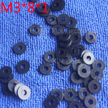 M3*8*1 1pcs Black Nylon Washer Plastic Flat Spacer Washer Thickness circular  round Gasket Ring High Quality circular