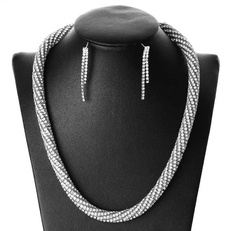 2019 regalo nupcial nigeriano boda Africana cuentas conjunto de joyas marca mujer moda Dubai oro plata conjunto de joyas al por mayor diseño