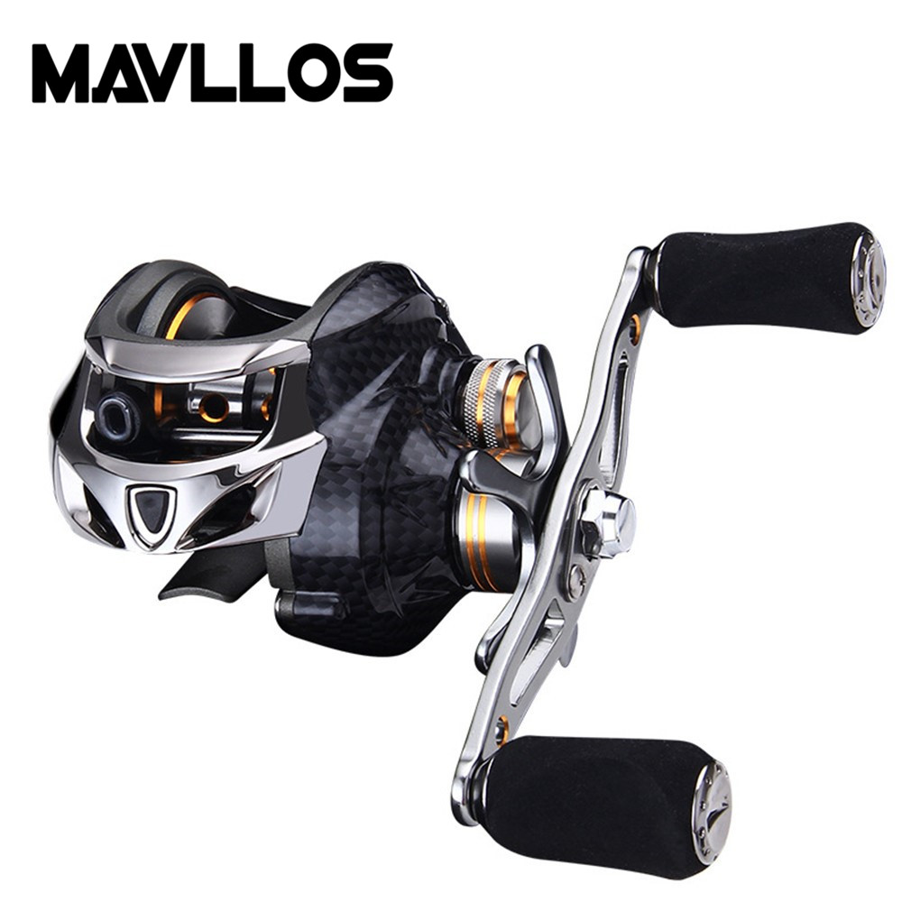 Mavllos Brand 19BB Saltwater Fishing Baitcasting Reel Left Right Hand Centrifugal Brake Lure Bait Casting Fishing Reel Coil new 12bb left right handle drum saltwater fishing reel baitcasting saltwater sea fishing reels bait casting cast drum wheel