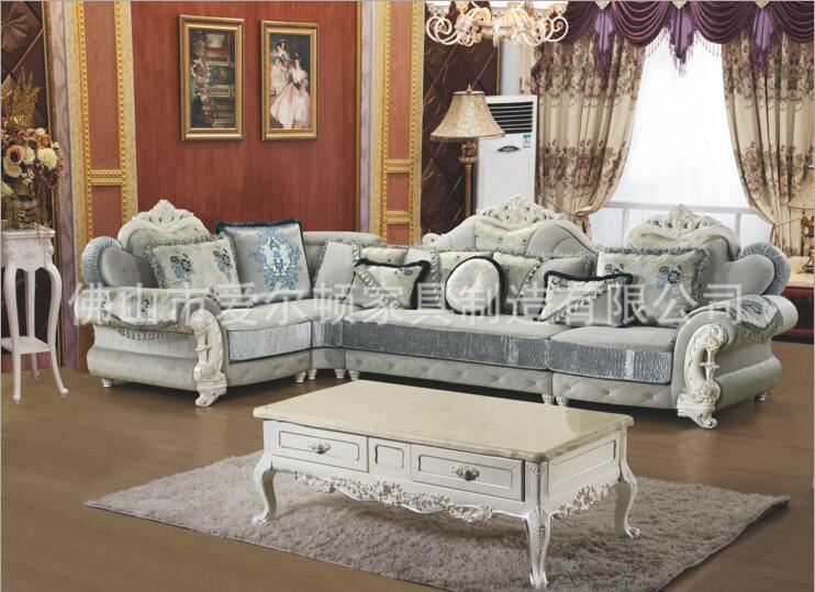 Купить с кэшбэком living room furniture modern fabric sofa European sectional sofa set a1267