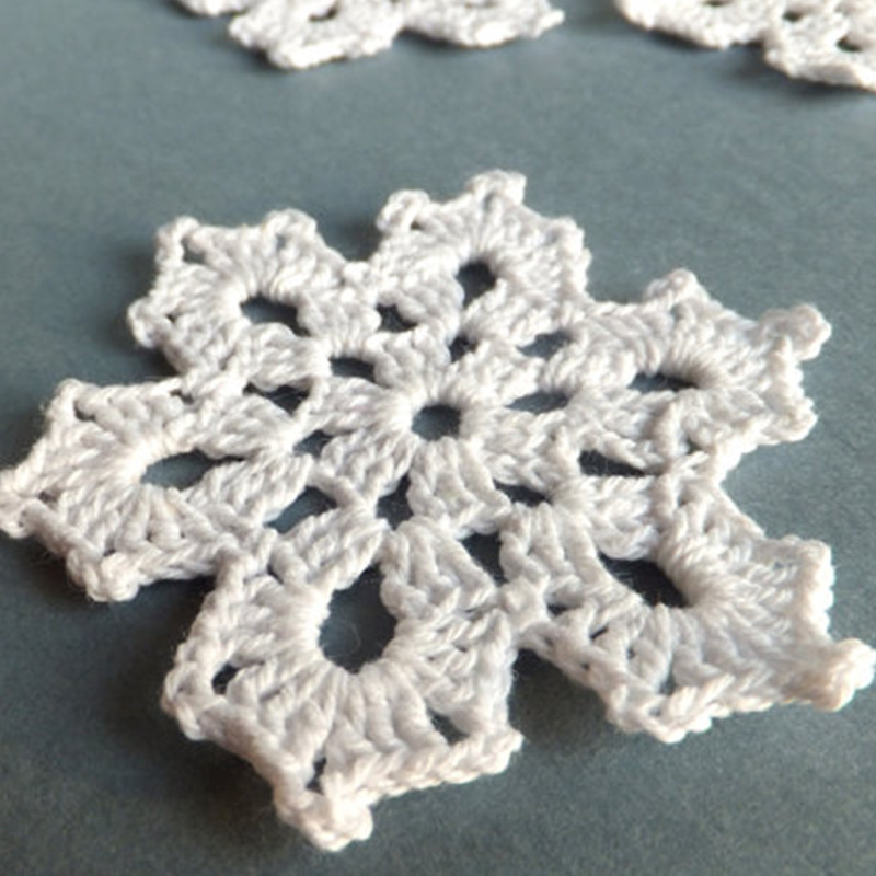 Apliques de ganchillo ornamento copos de nieve copos de nieve ...