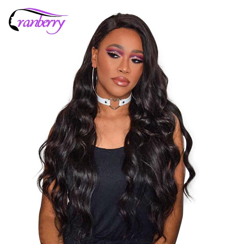 Cranberry Hair 13X4 Closure Wig Indian Body Wave Lace Front Wig 100 Remy Hair Lace Front