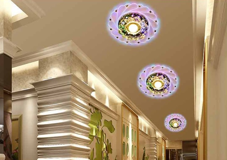 New Modern Crystal LED Saving Bright Efficient Ceiling RGB Light Durable Lamp Fixture Lighting Chandelier