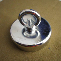 Hot Sale 1pcs Pulling Mounting Magnet Dia 75mm Magnetic Pots With Ring Lifting Magnet Strong