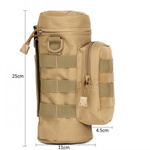 Outdoor Tactical Military Molle System Water Bottle Bag Kettle Pouch Holder For Camping Bicycle Camelback