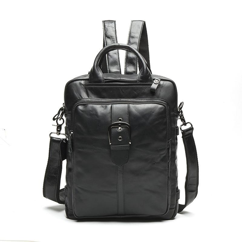 Men Backpack Genuine Leather Laptop Backpack Multifunction Bag Large Fashion Brand School Travel Backpacks For Teenagers Mochila fashion men backpacks pu leather school bag for teenagers college schoolbag travel laptop bag bookbag bolsas mochila