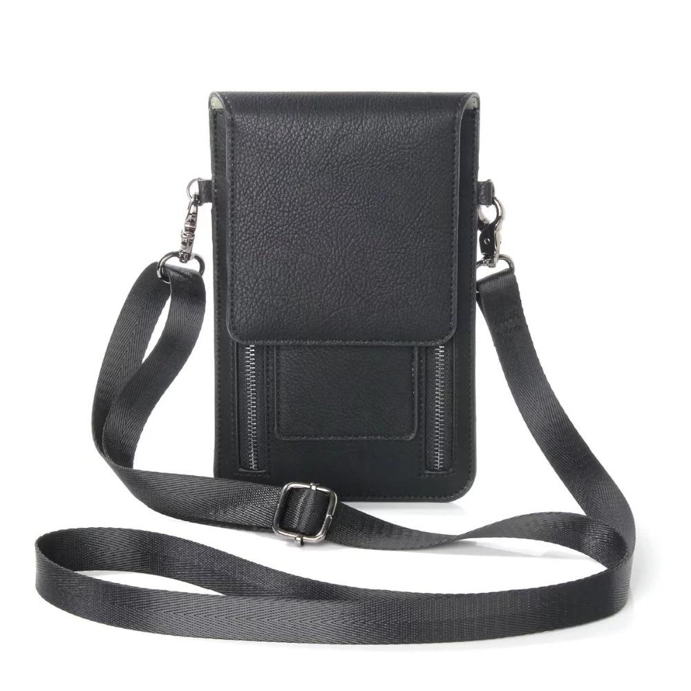 FULAIKATE Litchi Universal Axelväska för iPhone6s 7 Plus-kortfodral - Reservdelar och tillbehör för mobiltelefoner - Foto 2