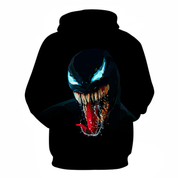 Black Monster 3D Printed Hoodie 1
