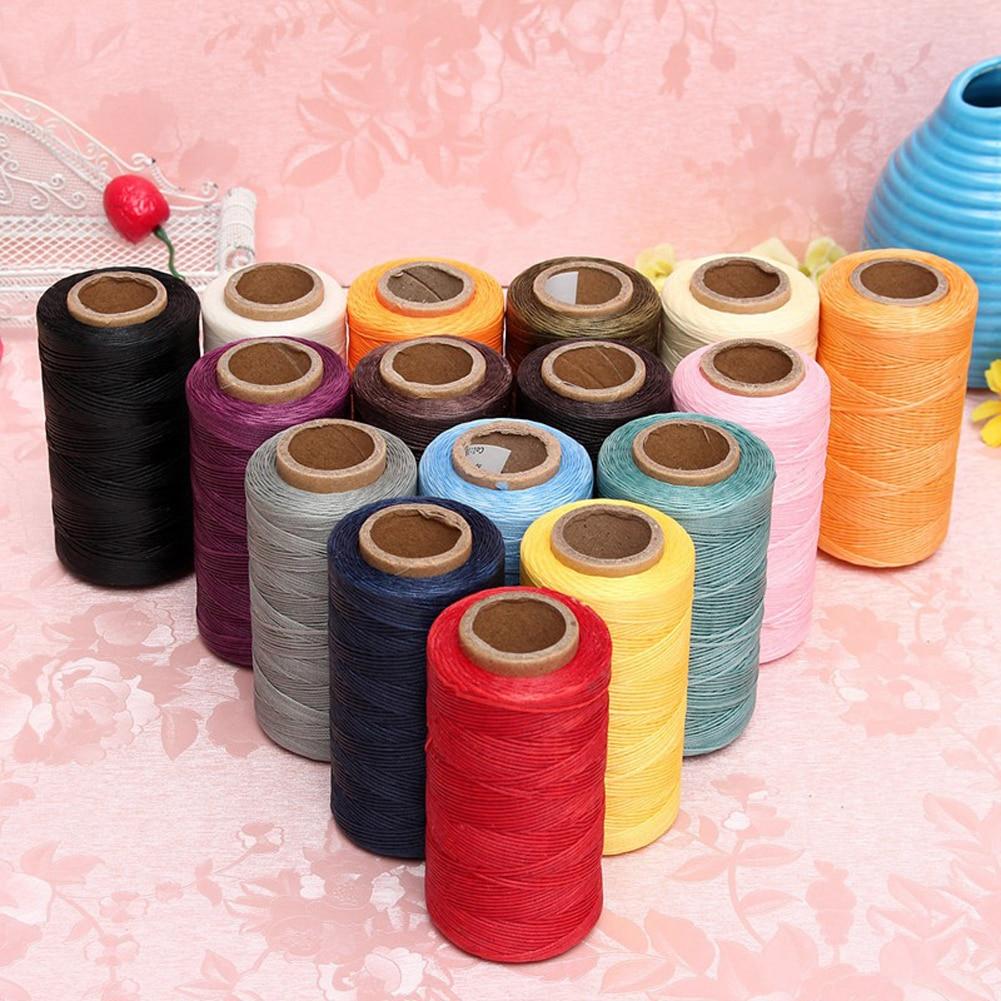 Flat Waxed Thread 284Yard 1mm 150D Wax String Cord Sewing Craft Tool ... Red