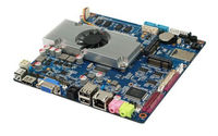 Fanless Mini Itx Motherboard All In One Motherboard With 1 DC 12V 1 RJ45 Port 1