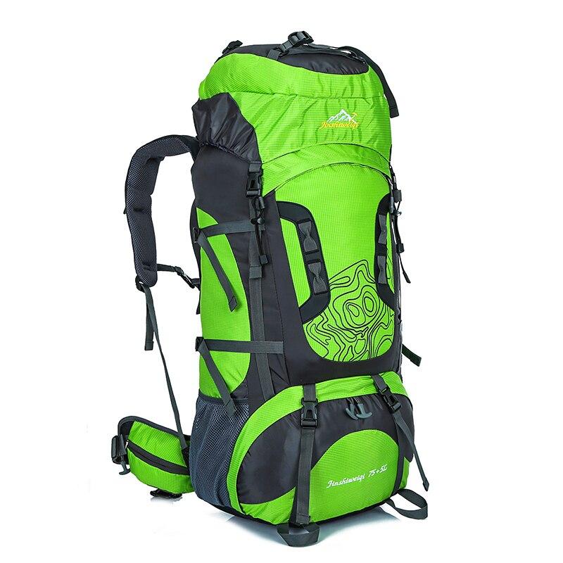 70 + 5 LWaterproof Polyester En Plein Air sac à dos de voyage Sport Sac Avec housse de pluie Camping Randonnée sac à dos trekking Mochila