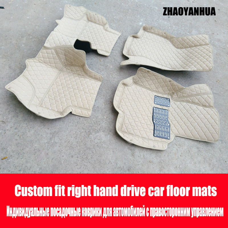 ZHAOYANHUA Right Hand Drive Car Car Floor Mats For Fiat