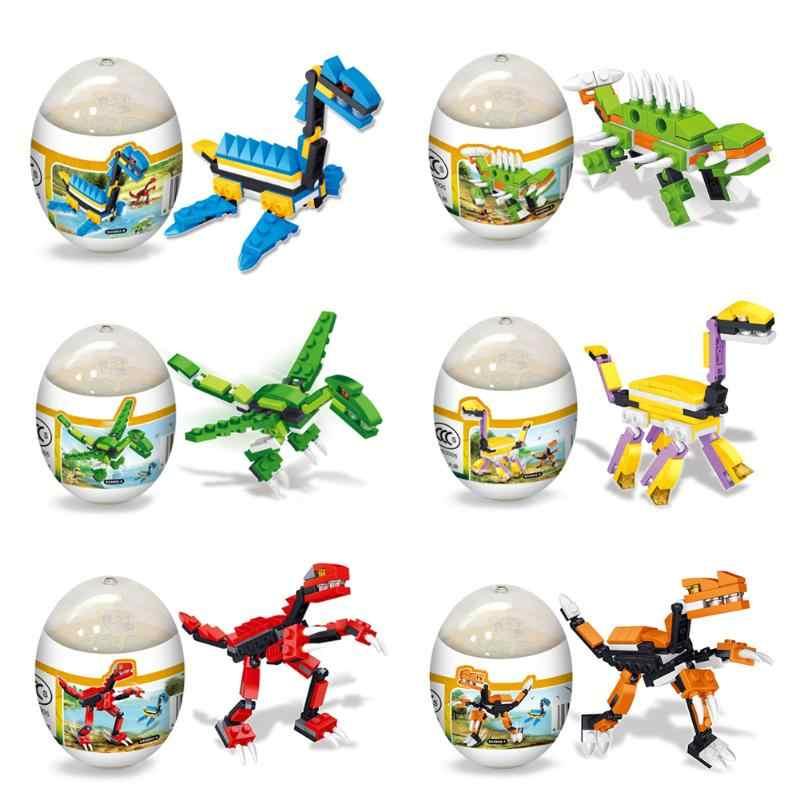 Attraente Deformazione Uova di Dinosauro Palle Giocattoli di Montaggio Della Novità Puzzle di Istruzione Divertimento Divertente Gadget Interessante Giocattoli Per Bambini Regali
